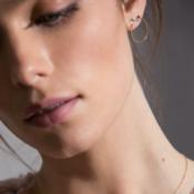 Black & White Circle Gold Earring