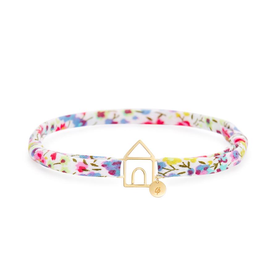 Gold Liberty Lil House Bracelet