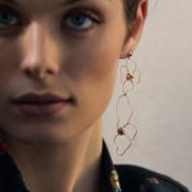 Earrings Flowers Gold Caterina B