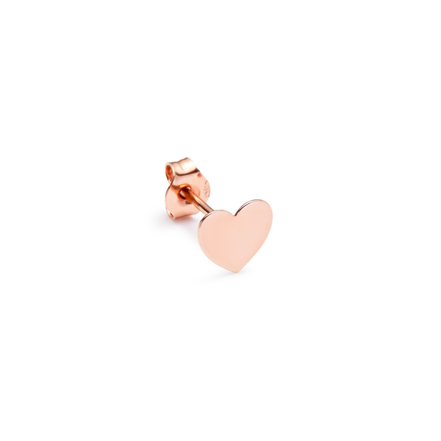 Pink Heart Gold Love Earring