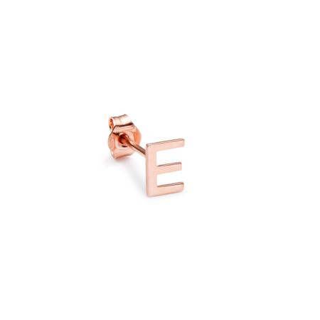 Orecchino Alphabet oro rosa E