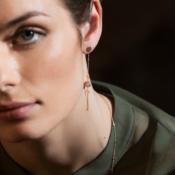 Gold Earring Les Etoiles
