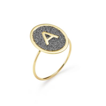 Anello Oro e Polvere di Diamanti