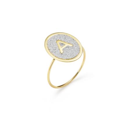 Anello Oro Glowing Alphabet Lettera A