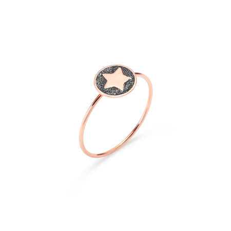 Anello Oro Rosa Glowing Star