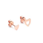 Pink Gold Hearts Earrings
