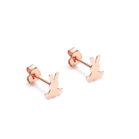 Pink Gold Rabbit Rabbit Earrings