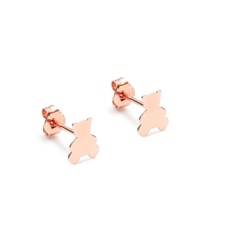 Earrings Pink Gold Hug Teddy Bear