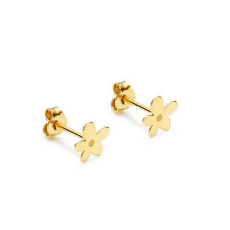 Yellow Gold Earrings M'ama Flower