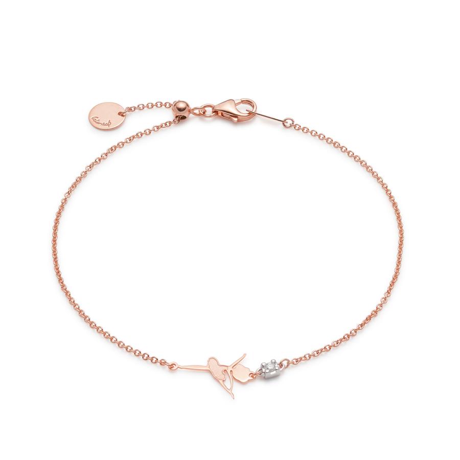 Pink Gold Sliding Pirouette Bracelet