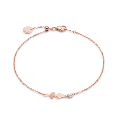 Pink Gold Sliding Dance Bracelet