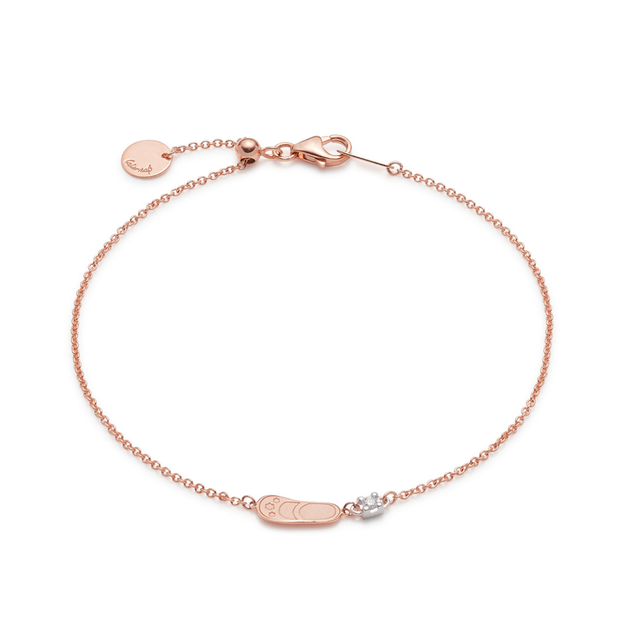 Pink Gold Sliding Bracelet First Step