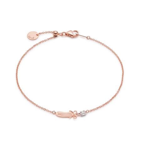 Pink Gold Ballerina Bracelet