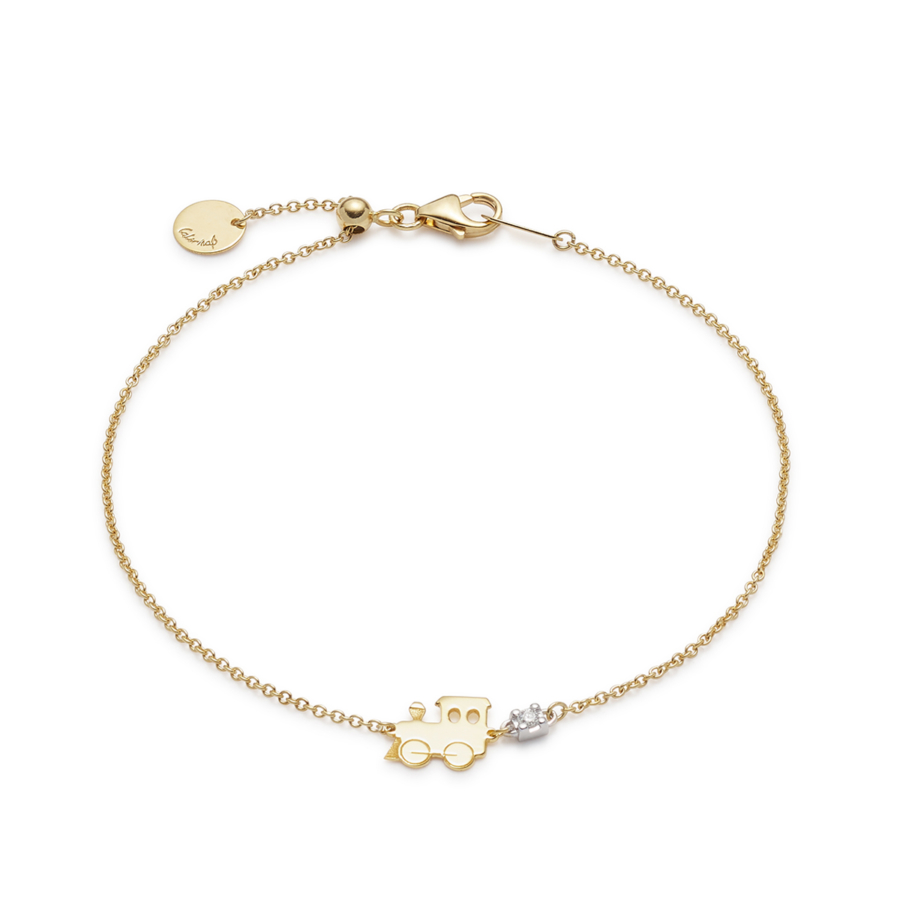 Yellow Gold Sliding Ciuf Trenino Bracelet