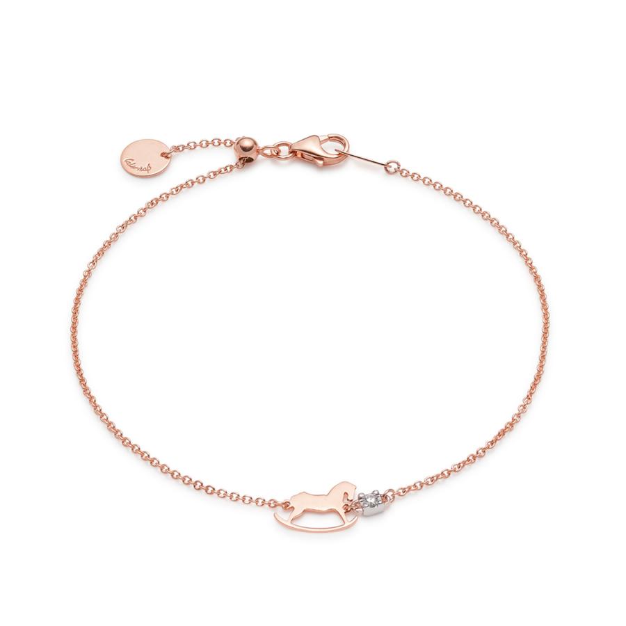 Rose Gold Sliding Cheval Bracelet