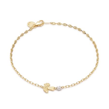 Gold Tutu Ballerina Bracelet