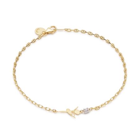 Gold Sweet Pirouette Ballerina Bracelet