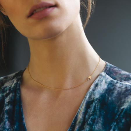 Alphabet Caterina B Gold Necklace