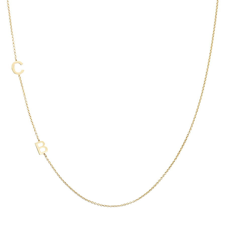 Necklace in 18K Yellow Gold CB Initials