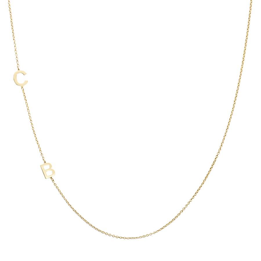 Collana in Oro Giallo 18 Carati CB Initials
