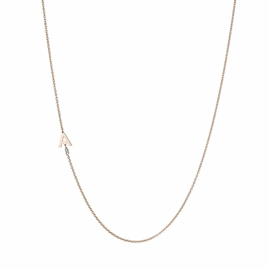 Collana Oro Giallo con Lettera A Collezione Initials