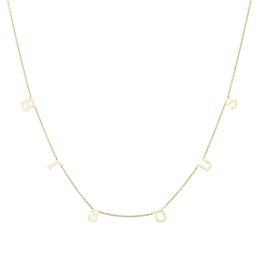 Yellow Gold Necklace with BISOUS inscription