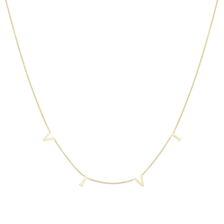 Yellow Gold Necklace with LIVE inscription