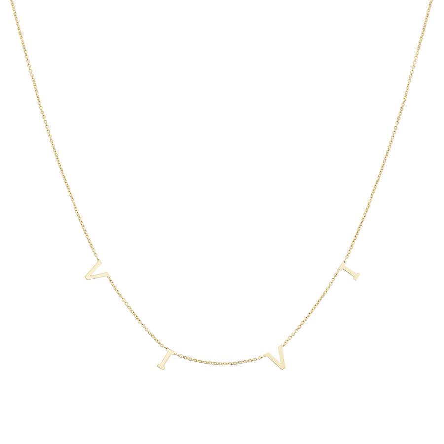 Collana Oro Giallo con Scritta VIVI