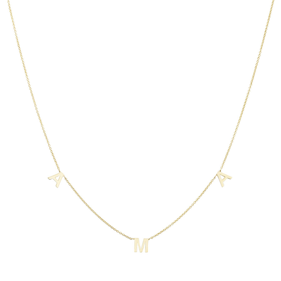 Yellow Gold Necklace with AMA inscription
