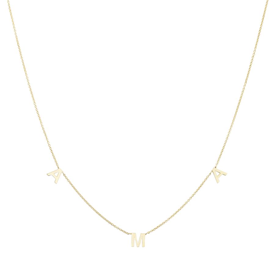 Collana Oro Giallo con Scritta AMA