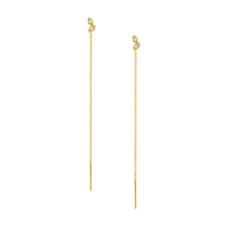 chain earrings leaves