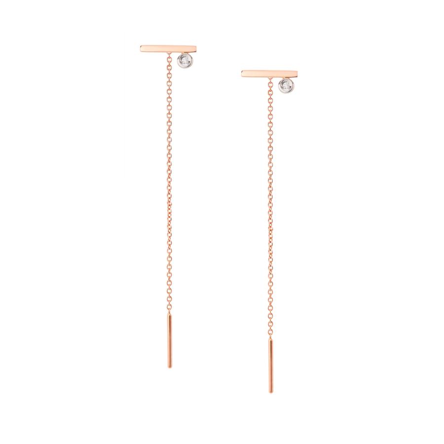 Line chain earrings