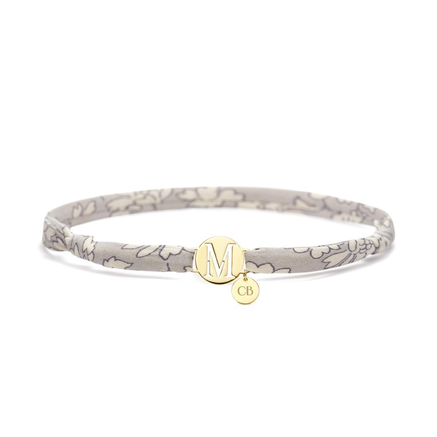 gold bracelet grey