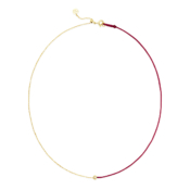 gold necklace cherry cord