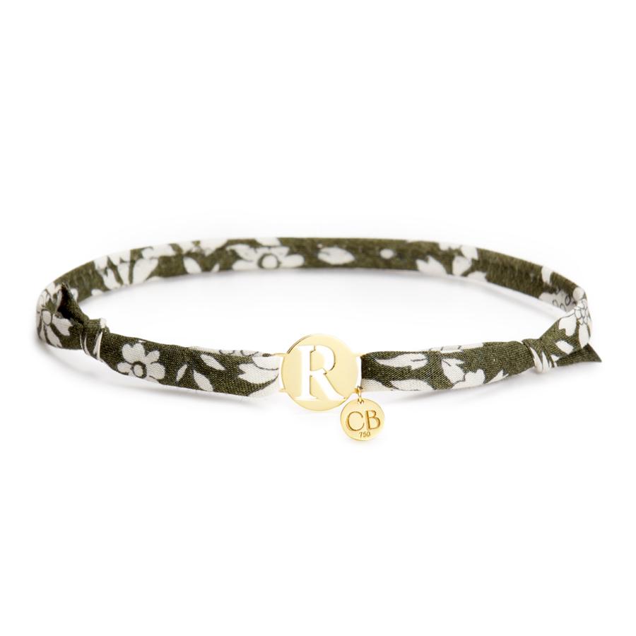 green-initial-bracelet